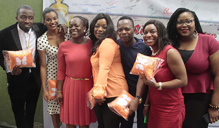 Ambassadors: From left, Mirabel Goodwill Ambassadores for Gender based Violence: Ice Prince, music artiste; Queen Ubah, Nigerian Centenary Queen; Mrs. Itoro Eze-Anaba, Managing Partner, Partnership For Justice; Bimbo Akintola, Nollywood actress; Kofi, Comedian, and Wana Udobang, journalist and writer in Lagos.