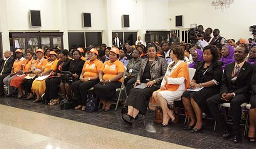 Cross section of guests at the event.