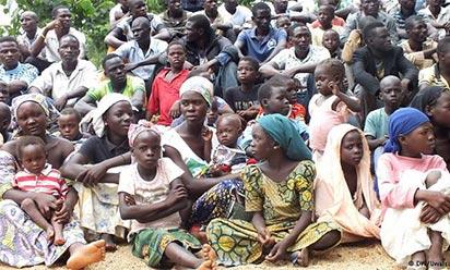 Nigerians displaced by Boko Haram insurgency.