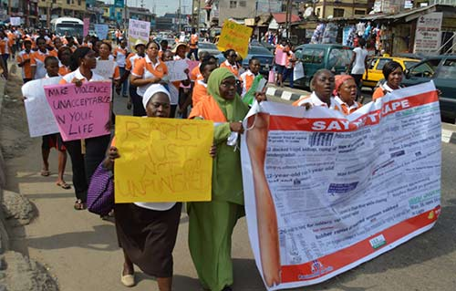 A walk to to create awareness on sexual violence held recently in Lagos.